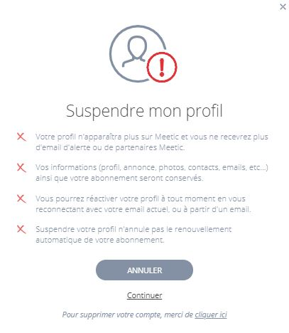 supprimer compte meetic