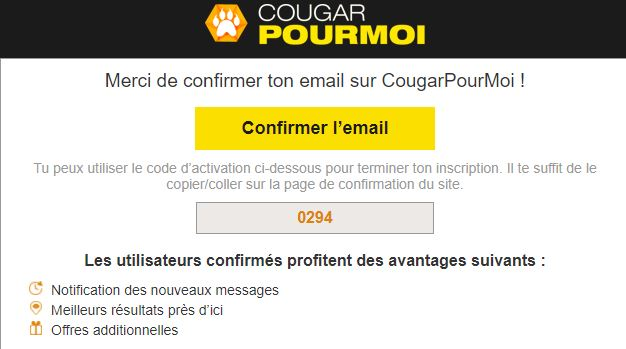 code inscription cougarpourmoi