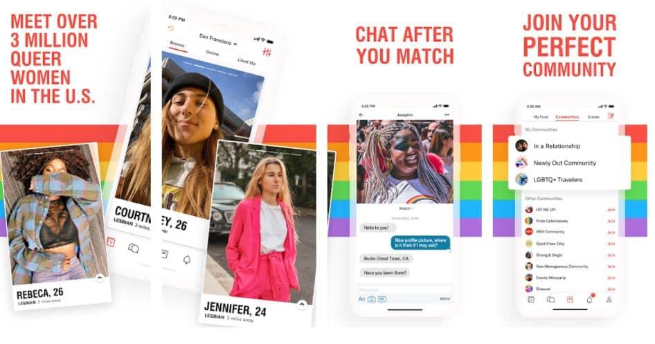 rencontre lesbienne appli her