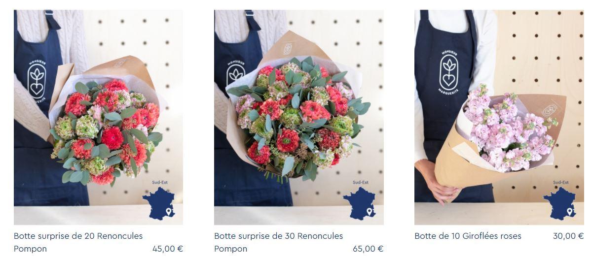 prix fleuriste monsieur marguerite